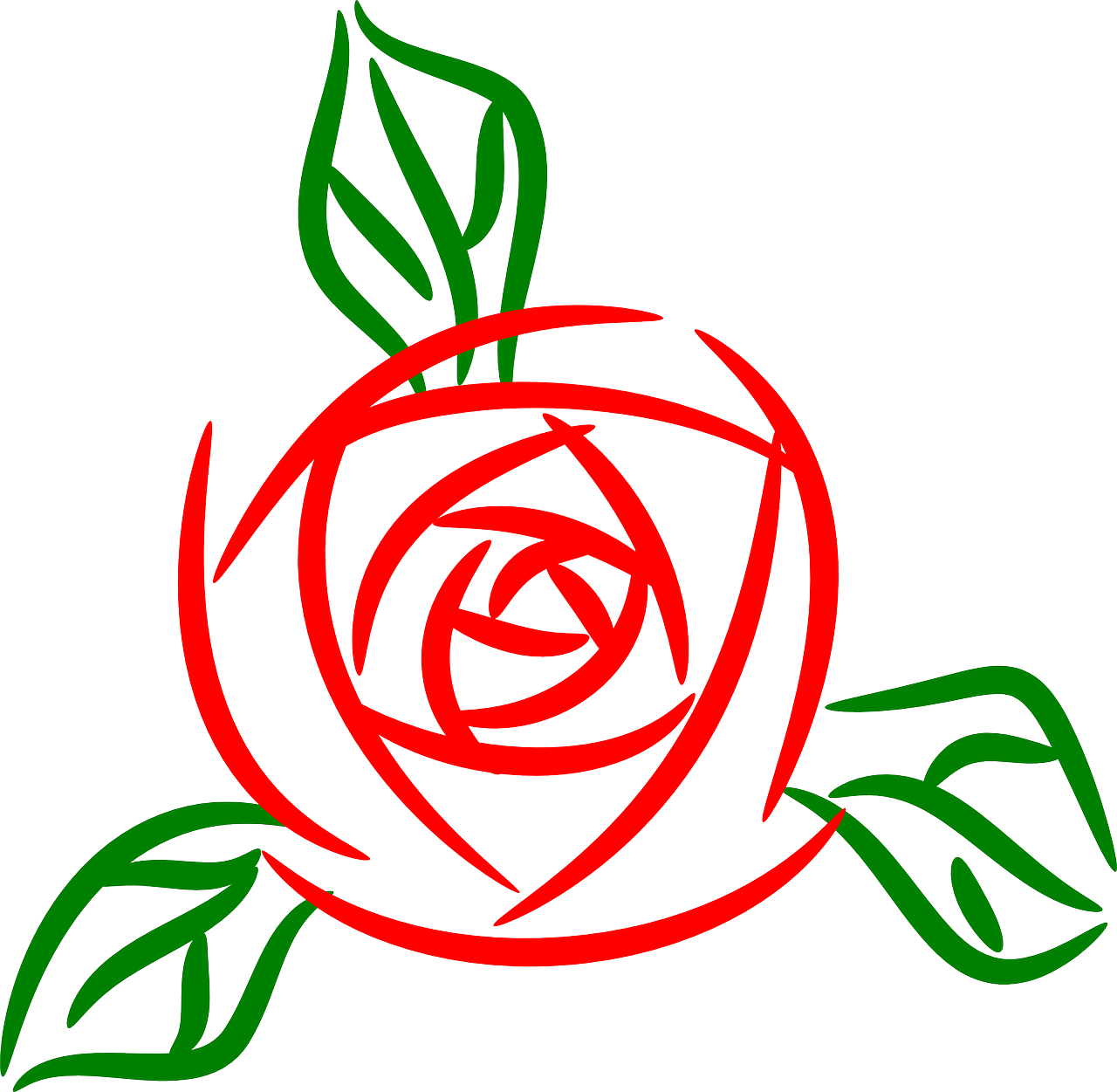 How To Draw A Flower Clipart.