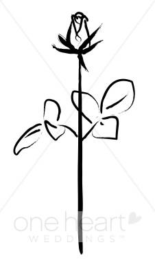 Simple Rose Clip Art.