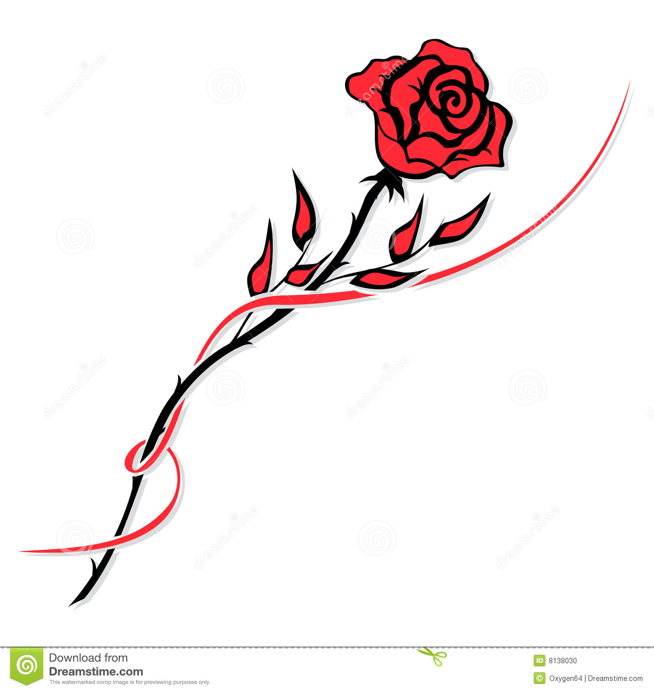 Simple Rose Clipart.