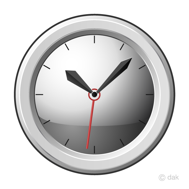 Simple Clock Clipart Free Picture|Illustoon.