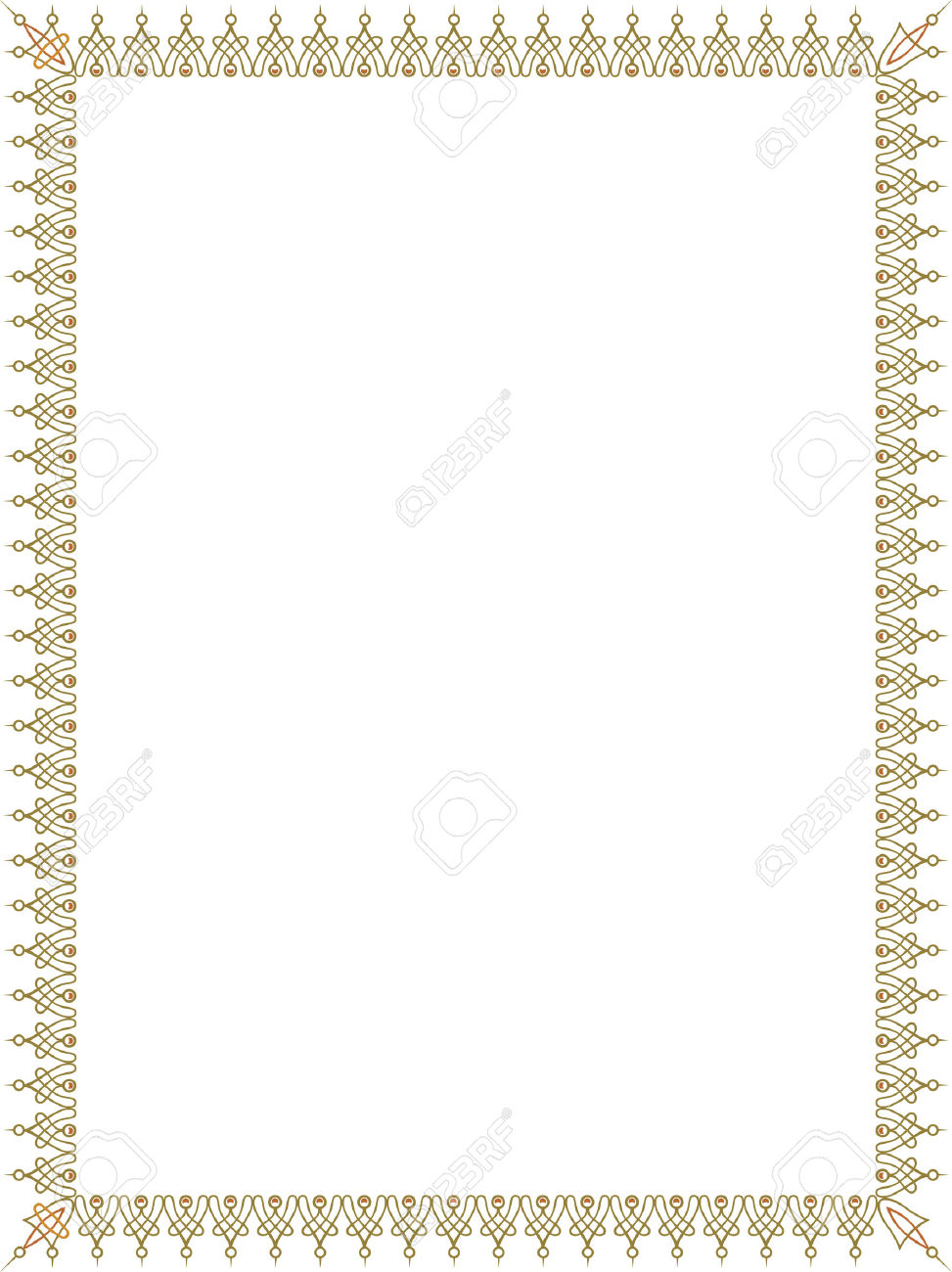 Simple Style Thin Frame, Colored Royalty Free Cliparts, Vectors.