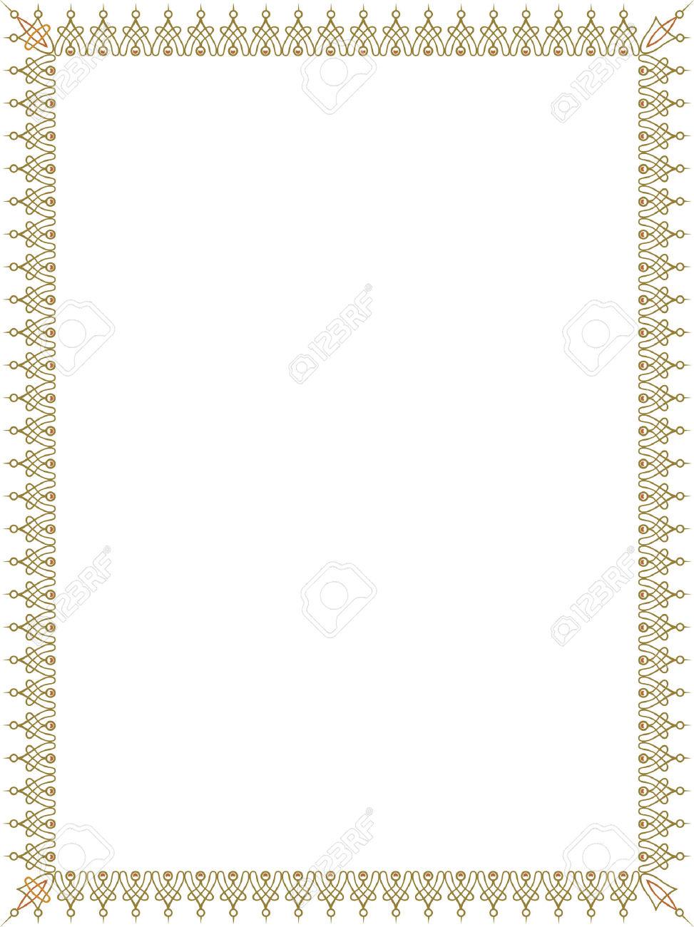 simple color border clipart