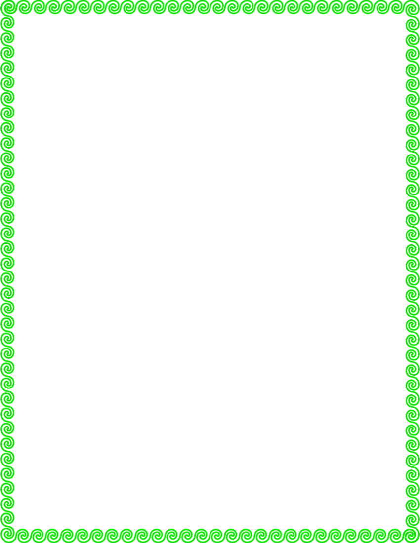 Simple Scroll Border Clip Art.