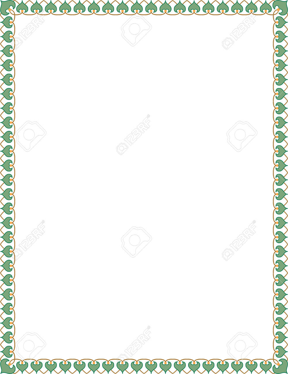 Simple Tiling Thin Frame, Colored Royalty Free Cliparts, Vectors.