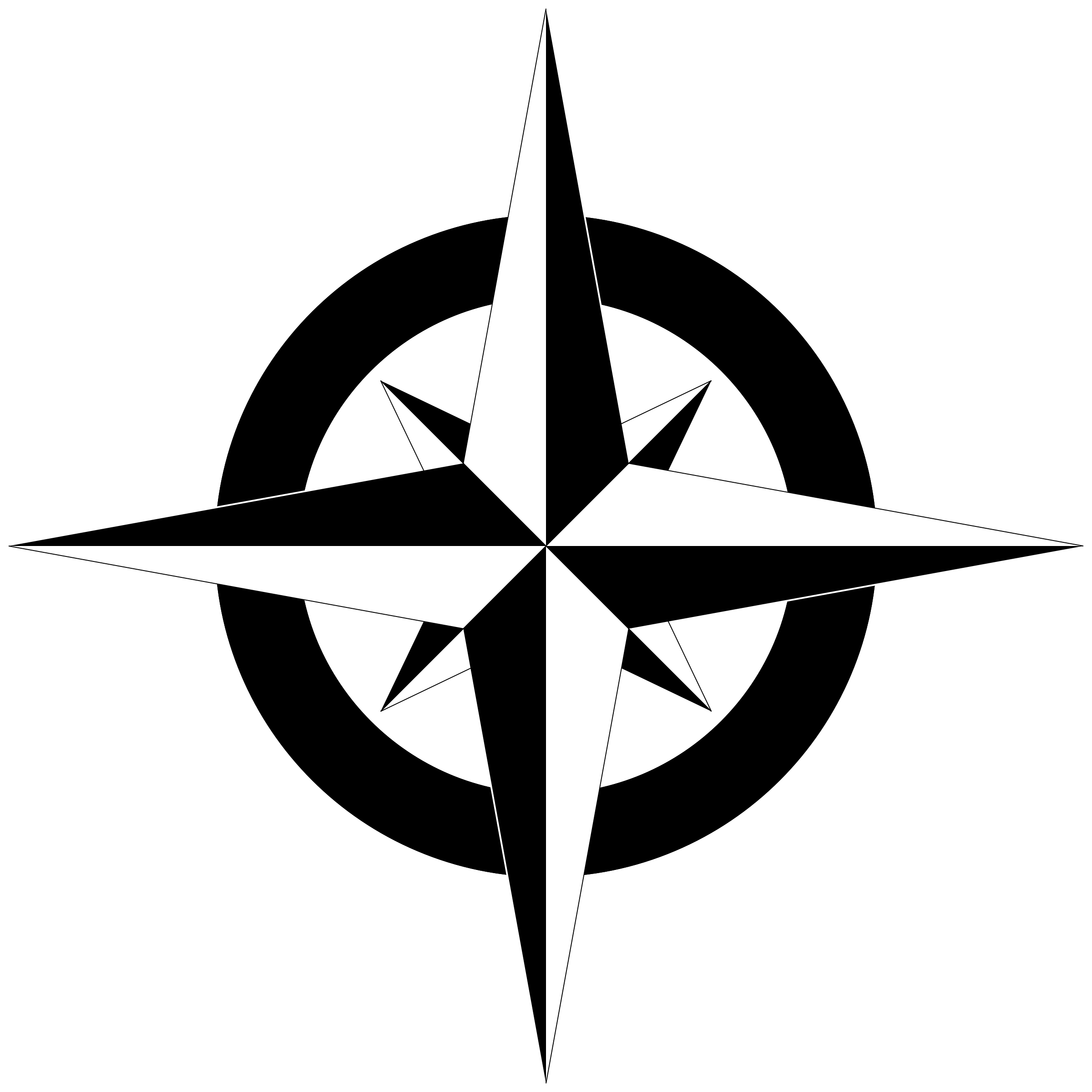 Free Simple Compass, Download Free Clip Art, Free Clip Art.