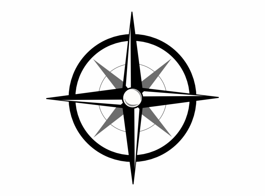 Simple Compass Icon.