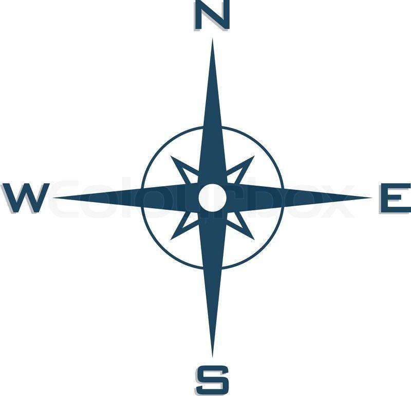 simple compass symbol.