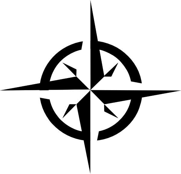 Simple Compass Rose Clipart.