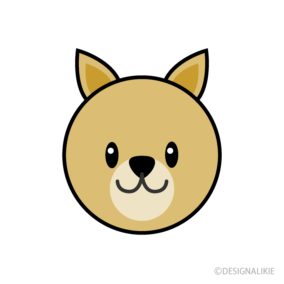 Free Simple Dog Face Clipart Image|Illustoon.