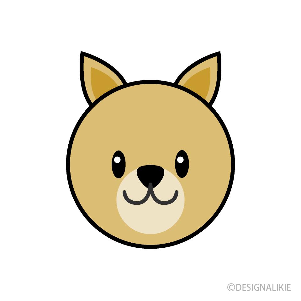 Free Simple Dog Face Clipart Image|Illustoon.