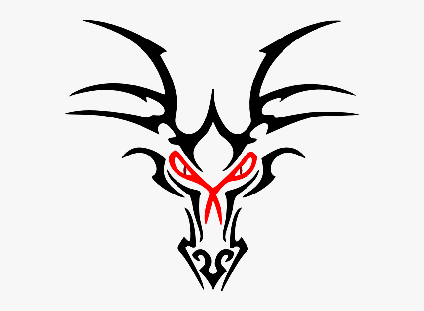 Simple Dragon Head Tattoo, HD Png Download , Transparent Png.