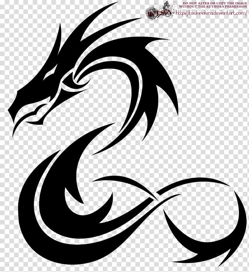 Tattoo Japanese dragon Idea , Simple Dragon transparent.