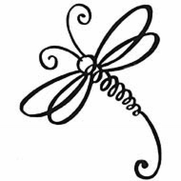 Line Drawing Dragonfly : Simple dragonfly clipart clipground