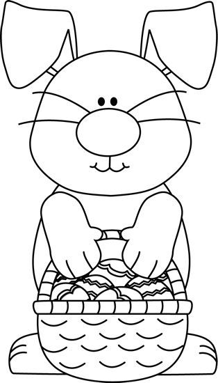 Easter Clipart Black and White.