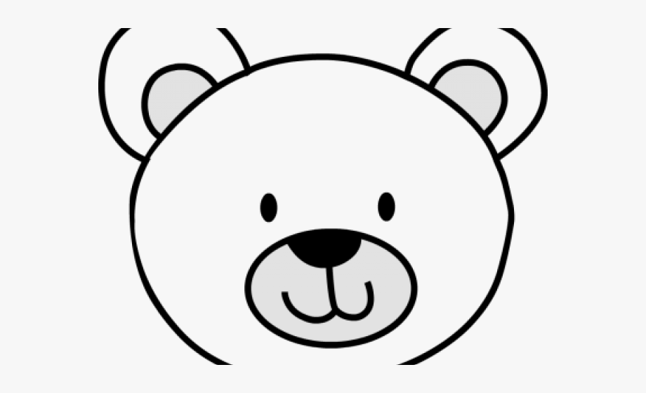 Face Clipart Polar Bear.