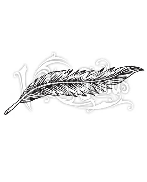 Simple Detailed Feather ClipArt.