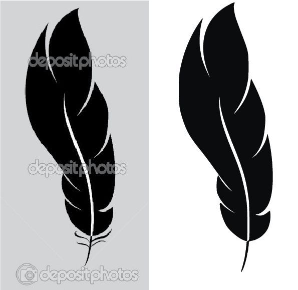 Simple Feather Vector Into A Usable Clipart.