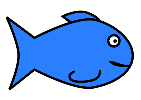 Simple fish clip art free clipart images 3.