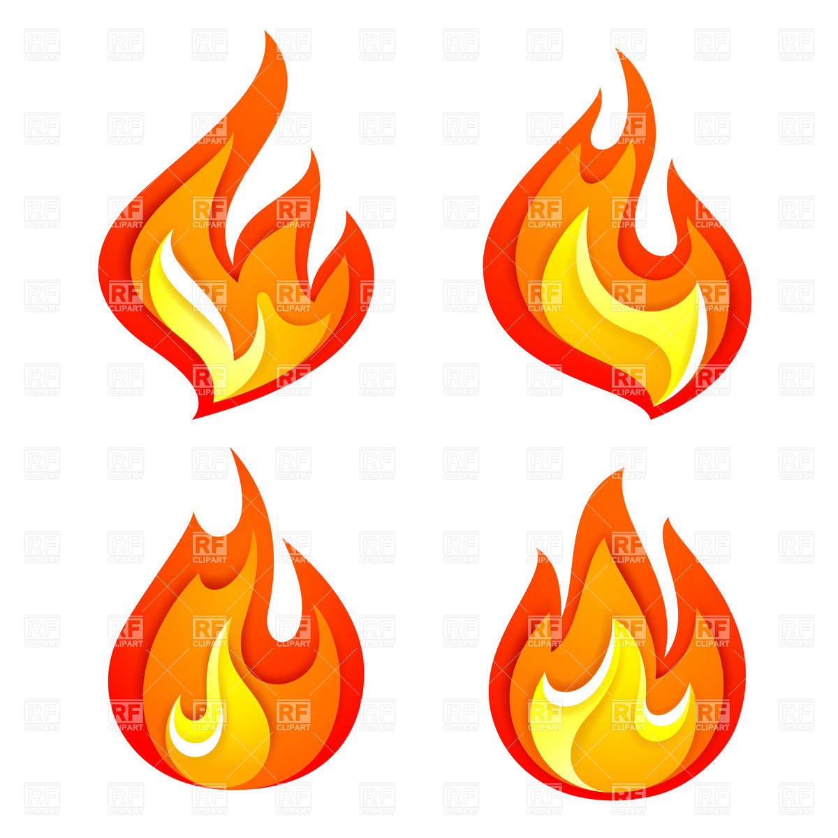 Simple Fire Flames Clipart.