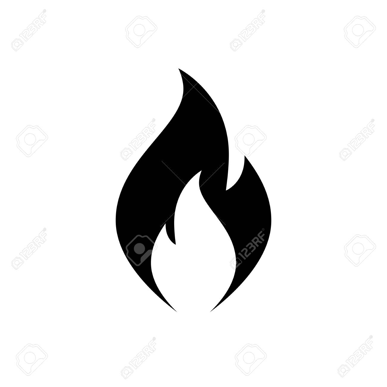 Simple Fire Clipart.