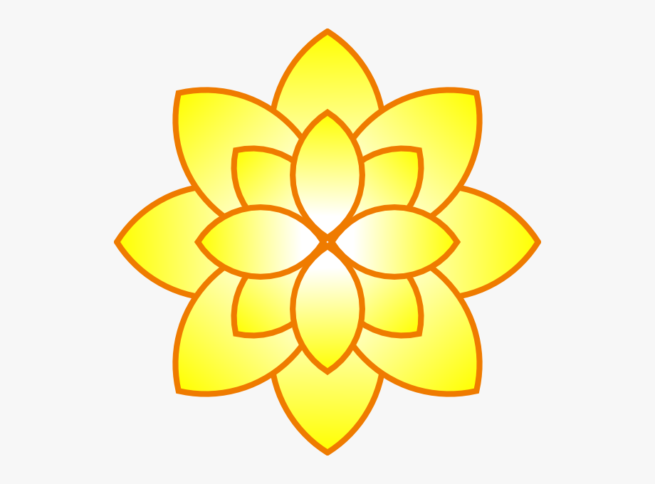 Original Png Clip Art File Simple Yellow Flower Svg.