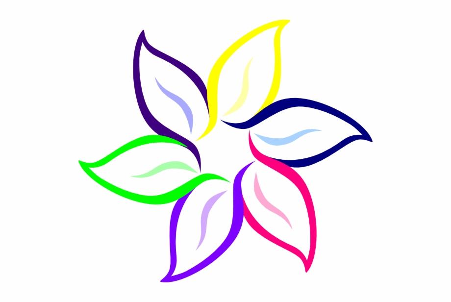 Color In Flower Multi Color Flower Clip Art At Clker.