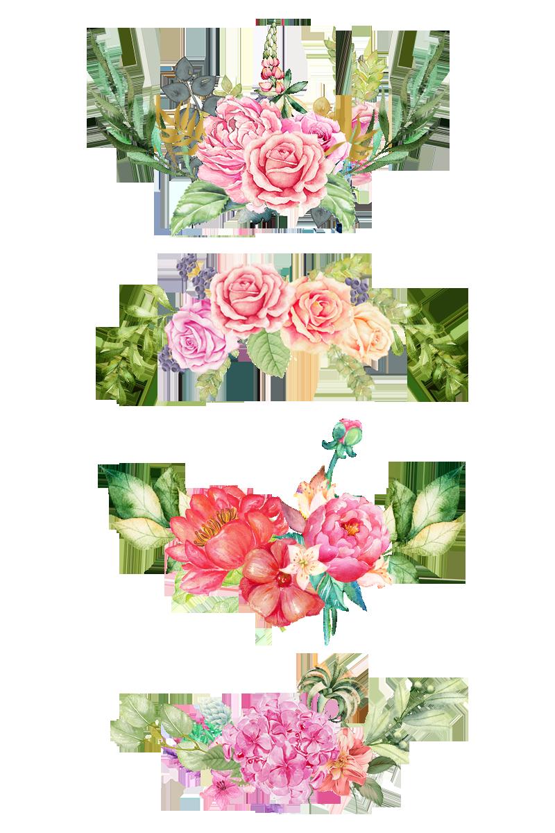 Watercolor Flowers in 2019.