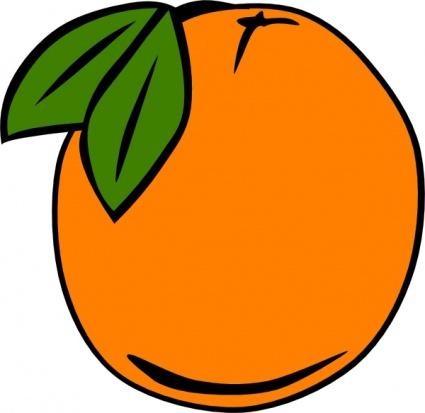 Simple Food Fruit Menu Orange Sibmission Clipart Graphic.
