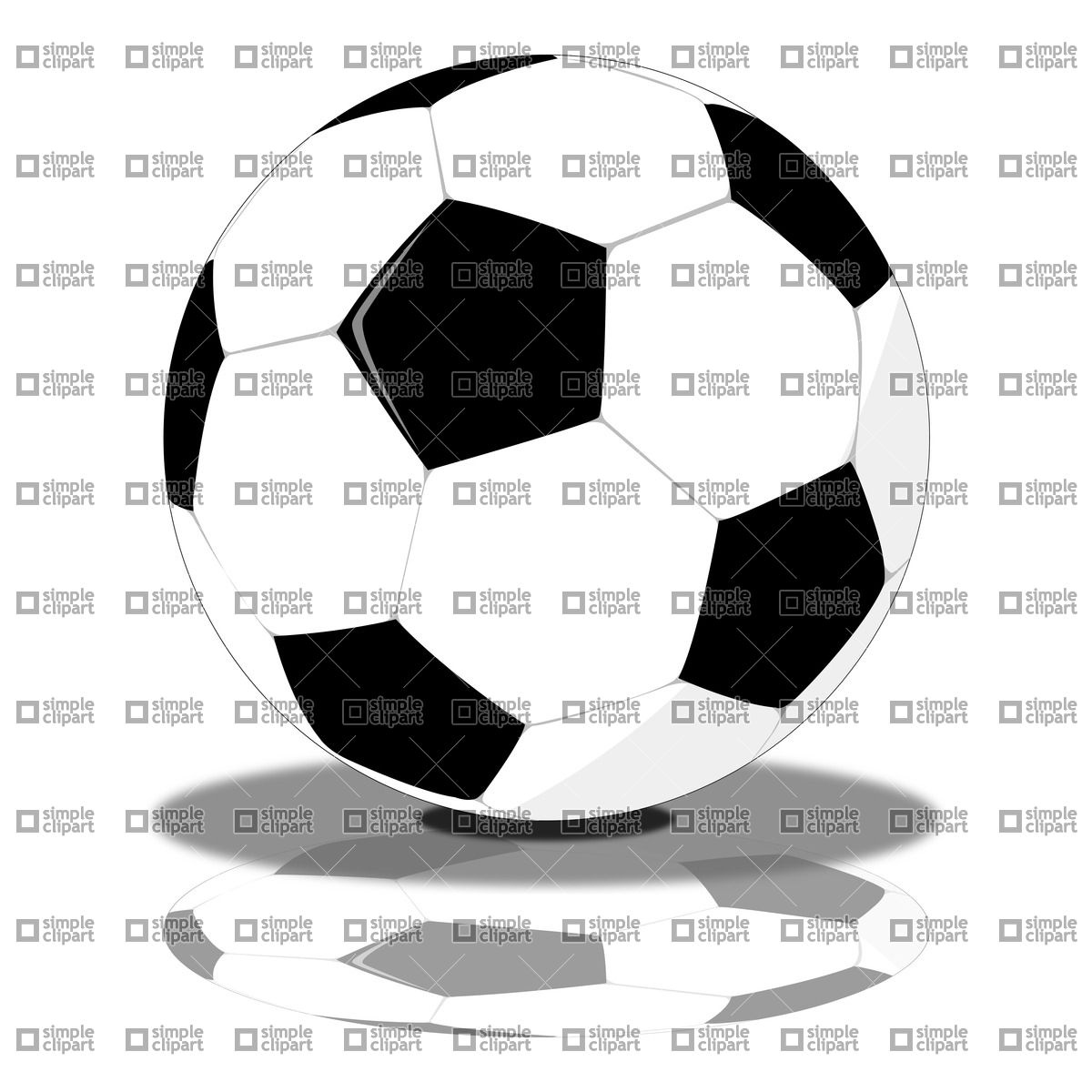 Football (Soccer) ball Vector Image #21210.