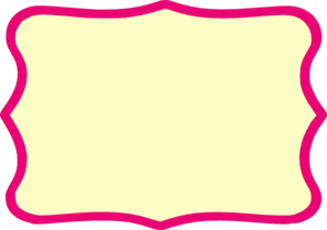 Simple Pink Frame Clipart.