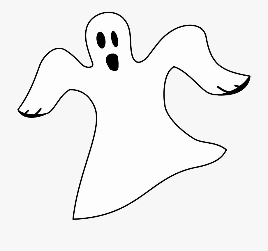 White Ghost Clipart.