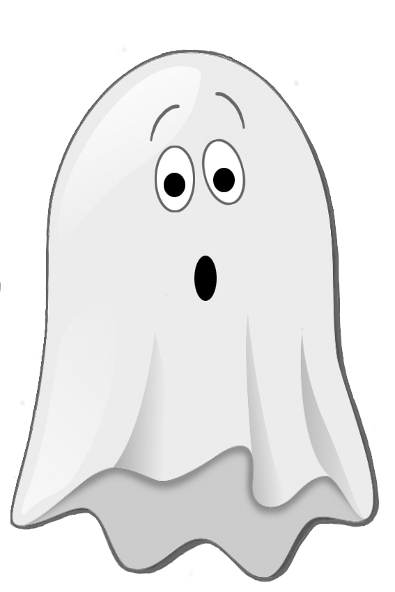 scared little ghost clip art.