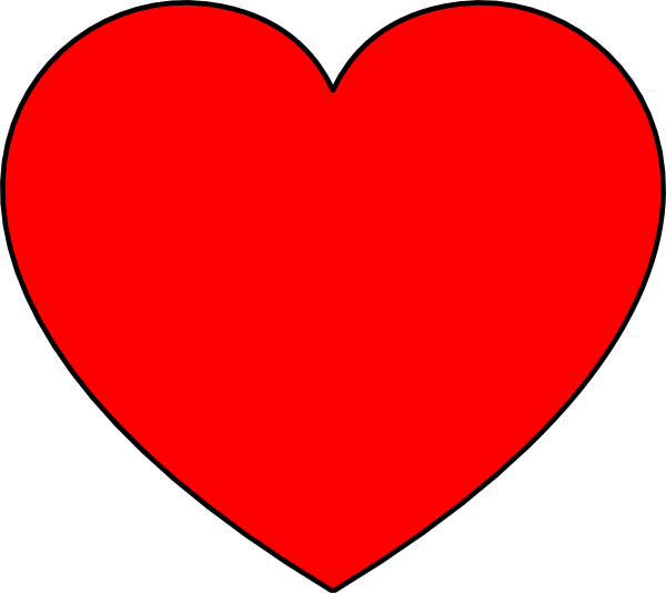 Simple Heart Red Filled PNG, SVG Clip art for Web.
