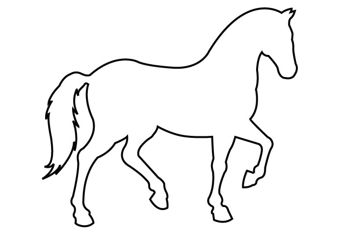 Simple Outline Horse.