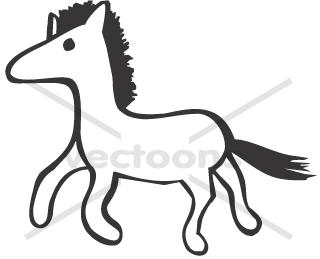 Simple Horse Clipart.