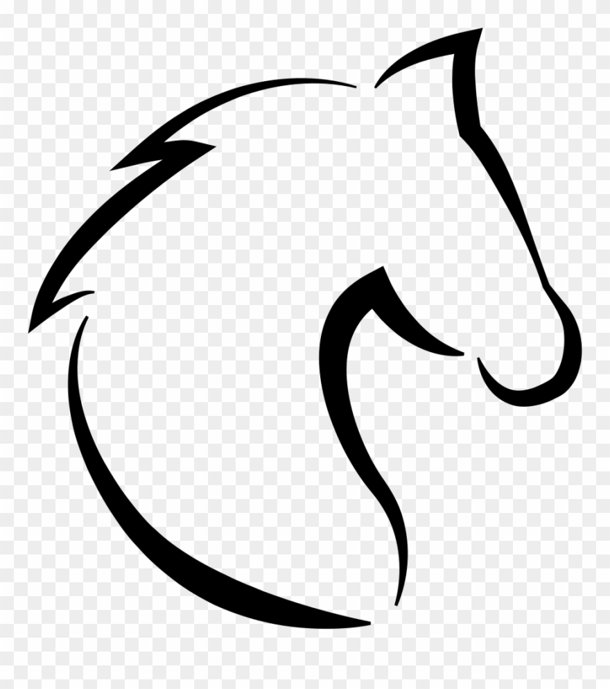 Horse Head With Hair Outline Svg Png Icon Free Download.