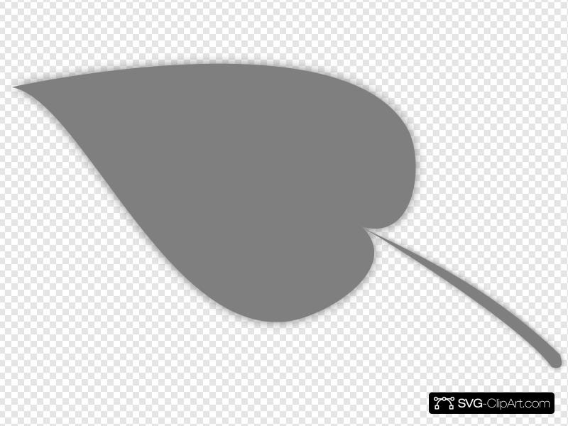 Grey Simple Leaf Clip art, Icon and SVG.