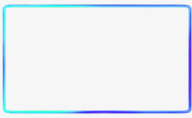 Blue simple line border texture PNG clipart.