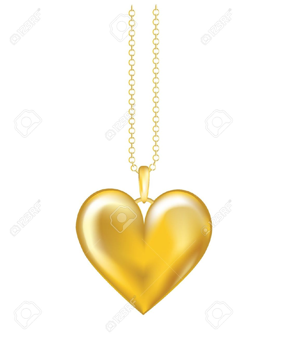 Simple Locket Clipart.