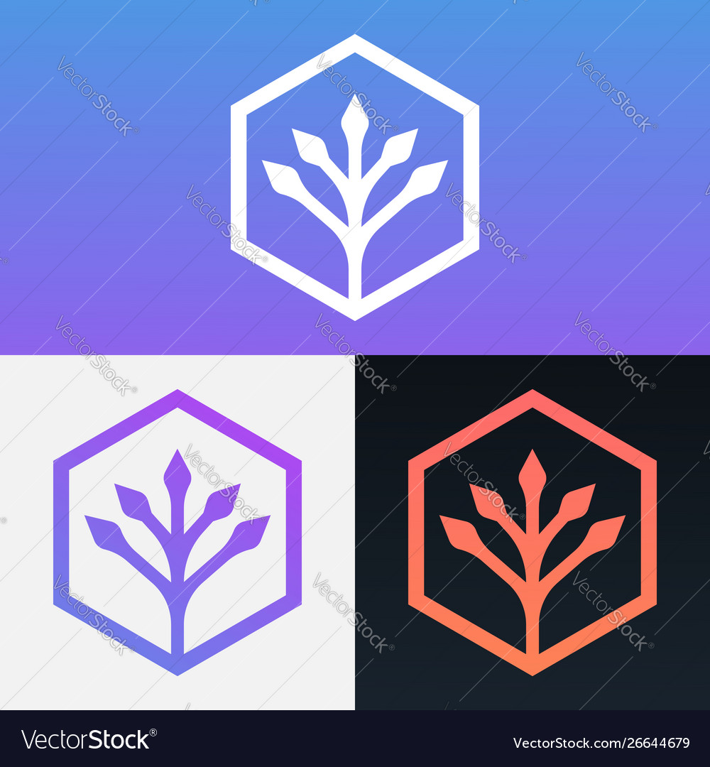 Modern simple tree design clipart symbol logo.