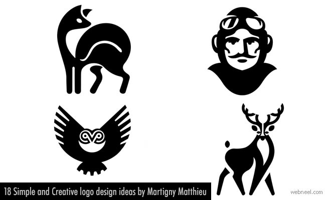 18 Simple and Creative logo design ideas by Martigny Matthieu.