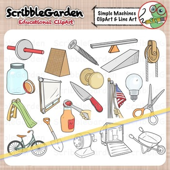 Simple Machines Science ClipArt.