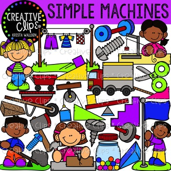 Simple Machines Clipart {Creative Clips Clipart}.