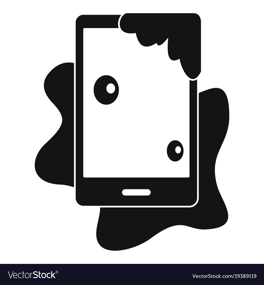 Wet phone icon simple style.