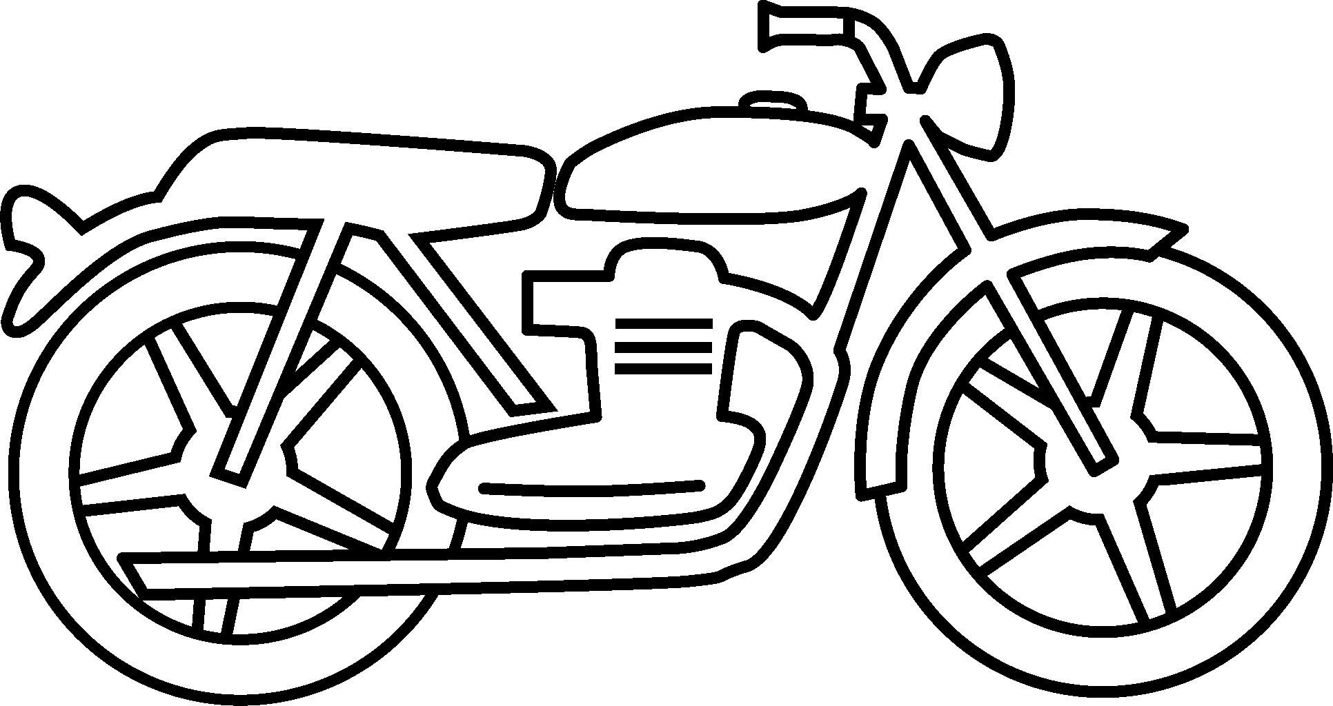 Motorcycle Drawings Clipart.