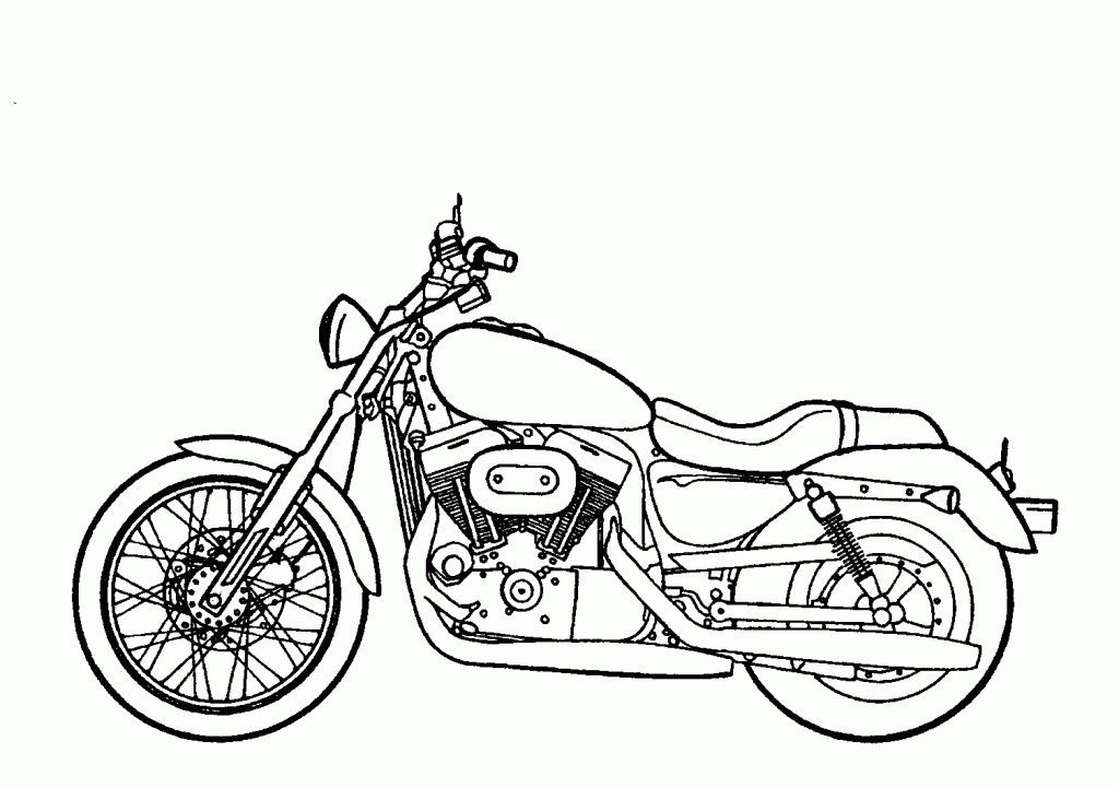 Motorcycle black and white simple motorcycle drawing harley.