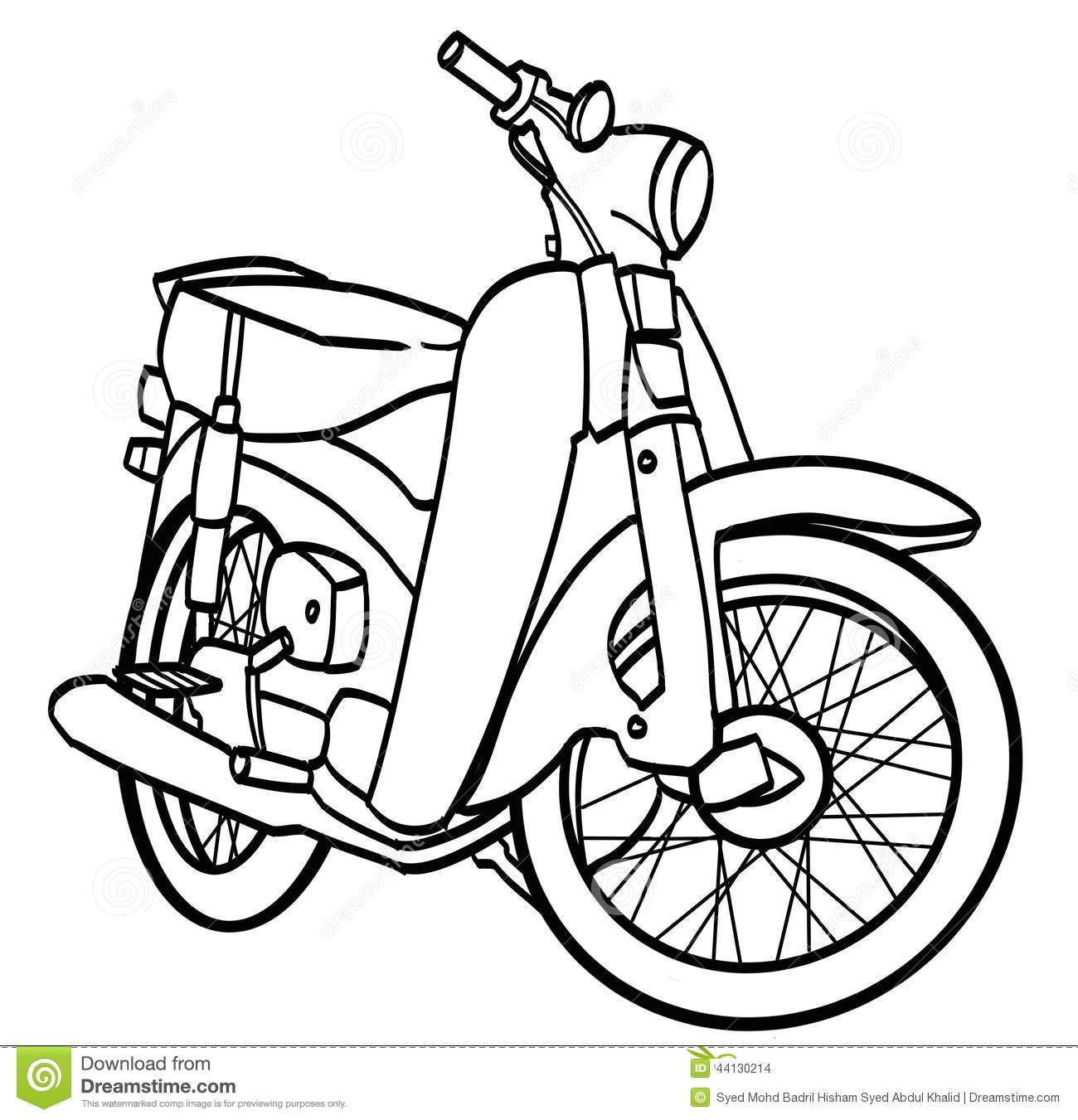 Simple Motorcycle Drawing at PaintingValley.com.