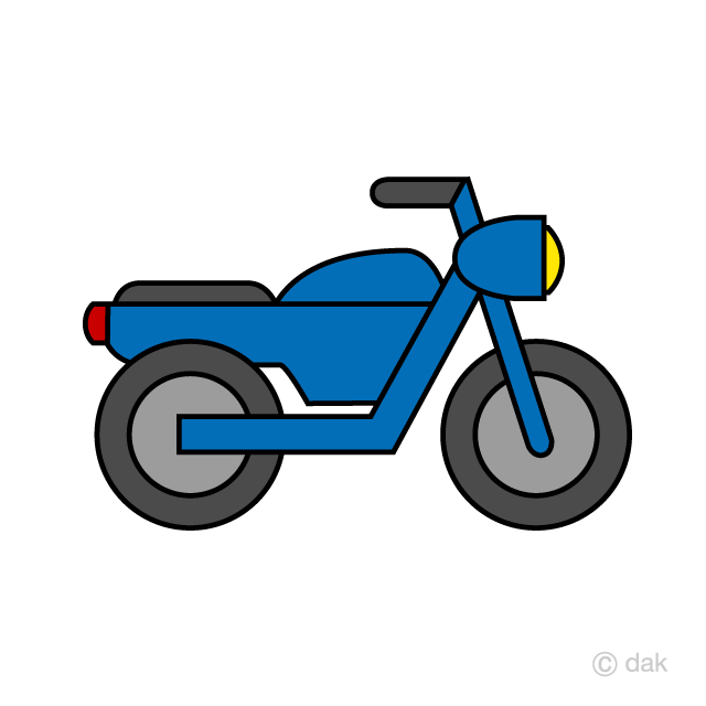Simple Motorcycle Clipart Free Picture|Illustoon.