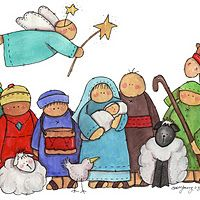 Kids Nativity Clipart.