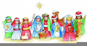 Childrens Nativity Clipart.